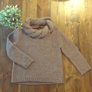 Tibi braided neck sweater, size Small